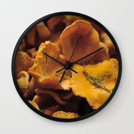 Chantarelle mushrooms. Wall Clock
