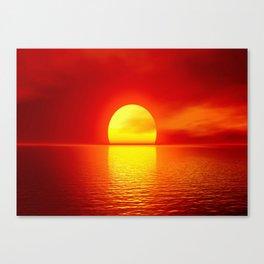 sun set home decor Canvas Print