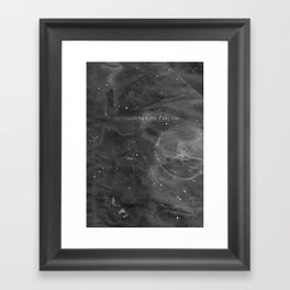 Underneath The Floor, It Will Stay Framed Art Print