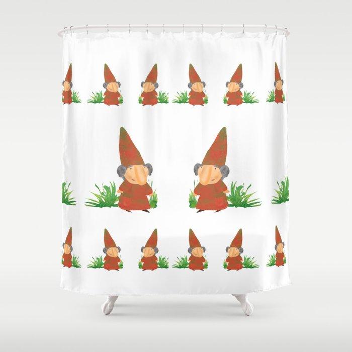 Wilhelmina The Gnome Shower Curtain By Chrisathompson