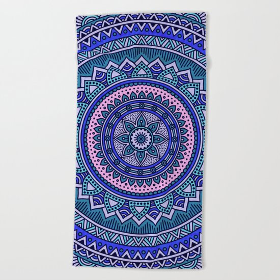 Hippie mandala 29 Beach Towel