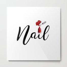 Nail Metal Print