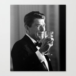 President Reagan Making A Toast Canvas Print