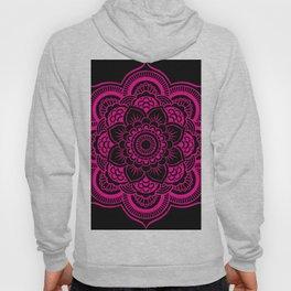 Mandala Flower Pink & Black Hoody