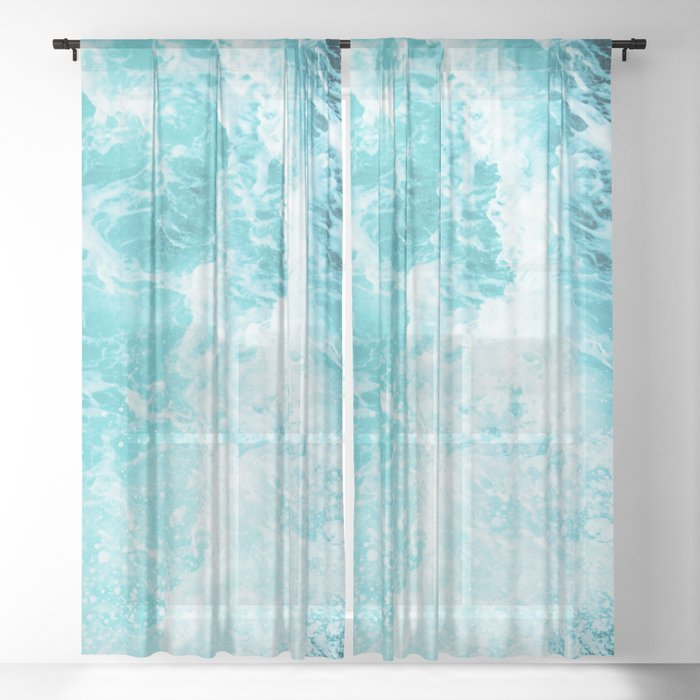 Perfect Sea Waves Sheer Curtain