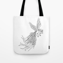 Simorgh or Simurgh Flying Drawing Tote Bag