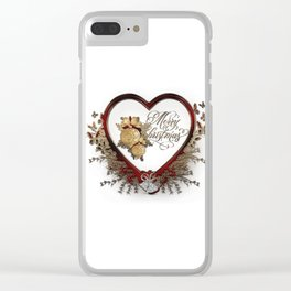 Merry christmas-decoration Clear iPhone Case