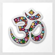Om Aum Namaste Yoga Symbol  Art Print