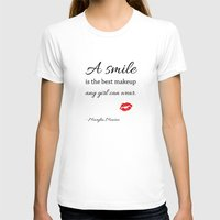 marylin monroe T-shirts featuring Marylin monroe Quote typography  by Home Art & Beyond