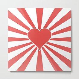 Valentine Heart Red Love Explosion Metal Print