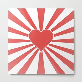 Valentine Heart Red Love Explosion Metal Print