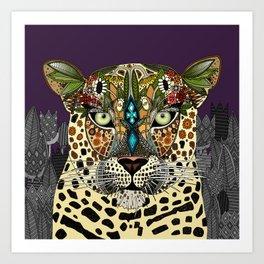 leopard queen Art Print