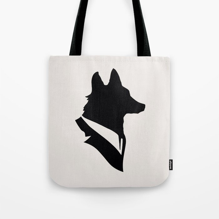 Monsieur Renard / Mr Fox - Animal Silhouette Tote Bag