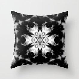 Black and White Kaleidoscope Throw Pillow