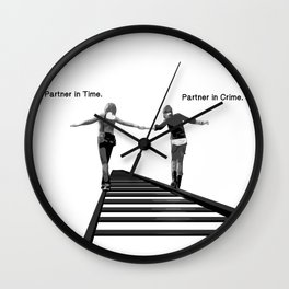 Partner in Time, Partner in Crime, Max Caulfield and Chloe Price Train Tracks Wall Clock