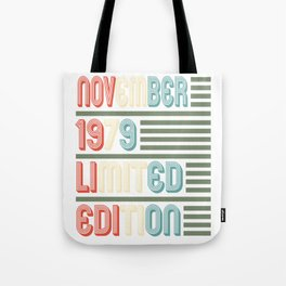November Cool Vintage Retro Birthday Gift For Your Wife And Husband For Their 40th Birthday Natal Tote Bag