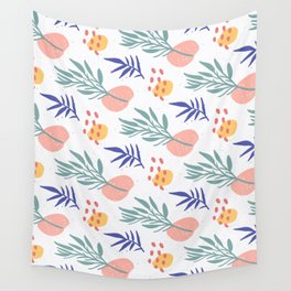 Florida Vibes - Tropical Midcentury Modern Botanical Wall Tapestry