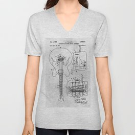 Mute means for electrical music instrument Unisex V-Neck