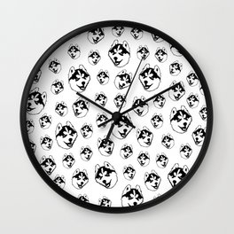CHRISTMAS GIFTS FOR THE HUSKY DOG LOVER FOR YOU FROM MONOFACES IN 2020 Wall Clock