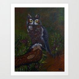 Dusk Owl Art Print