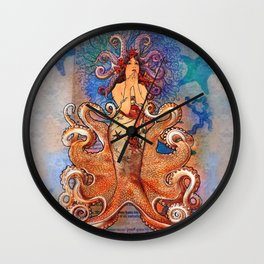 Cephalopod Girl Wall Clock
