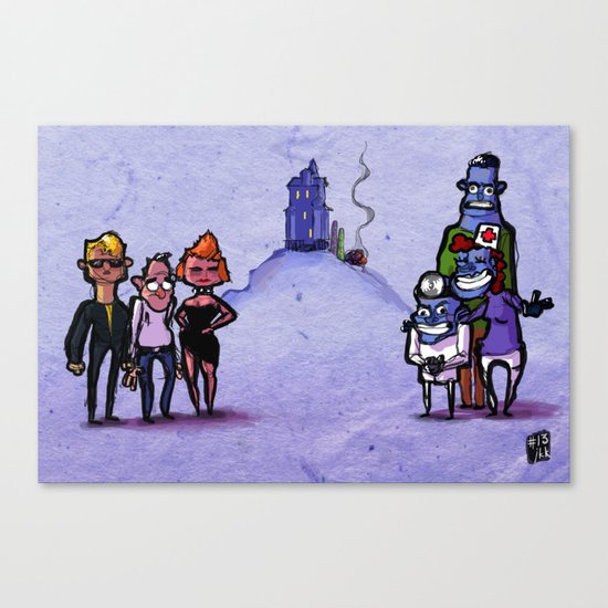 Use Verb on Noun #13: Maniac Mansion Canvas Print