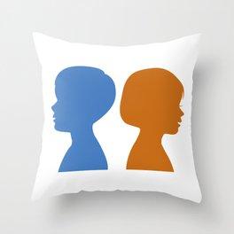 a Boy and a Girl Throw Pillow