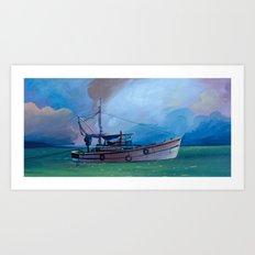 Gypsy Fishing Boat Art Print