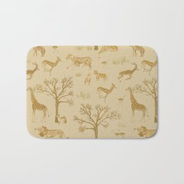 Safari in the Serengeti Bath Mat
