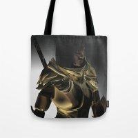 skyrim Tote Bags featuring Skyrim Armor by J.A.C