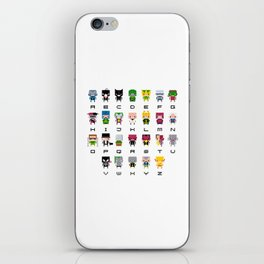 Pixel Supervillain Alphabet 2 iPhone Skin