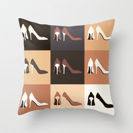 heel shoes-ıv Throw Pillow