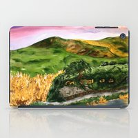 the lord of the rings iPad Cases featuring Lord of the Rings Hobbiton by KS Art & Design