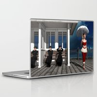 scandal Laptop & iPad Skins featuring Victorian summer scandal by Britta Glodde
