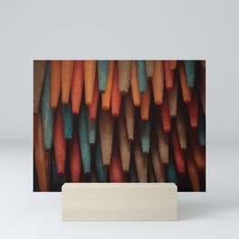 Toothpick Stalactites. Macro Photography Mini Art Print