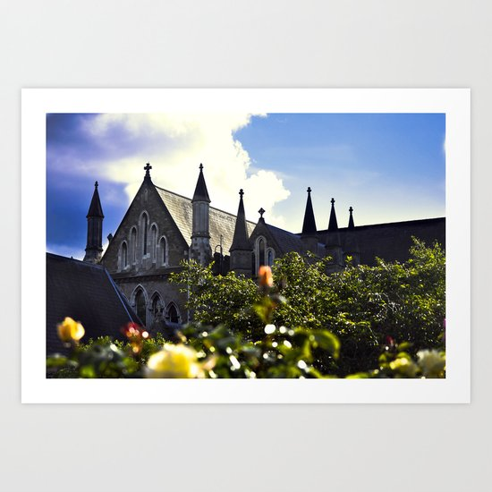 Church gardens Art Print