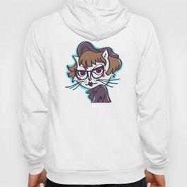 Hipster Cat Girl Hoody