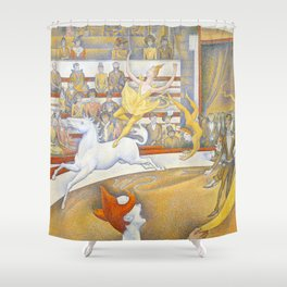 """Georges Seurat """"The Circus"""" Shower Curtain"""