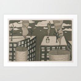 Human City Art Print