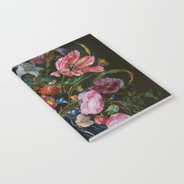 Vase of Flowers II Jan Davidsz de Heem Notebook
