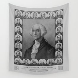 Presidents of The United States 1789-1889 Wall Tapestry