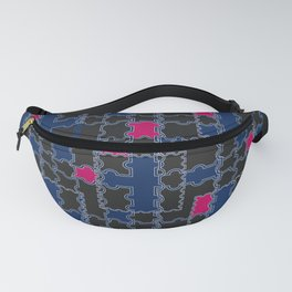 Abstract blue red pattern Fanny Pack