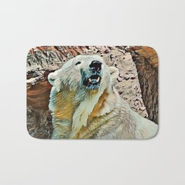 Toony Polar Bear Bath Mat