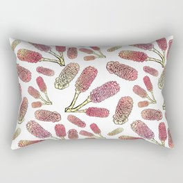 Australian Native Flowers - Beehive Ginger Rectangular Pillow