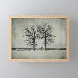 I try to pretend that I'm not alone. Framed Mini Art Print
