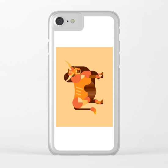 Bull Orange Clear iPhone Case
