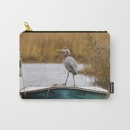 Great Blue Heron on Fishing Boat Carry-All Pouch