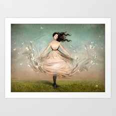 Butterfly Dress Art Print
