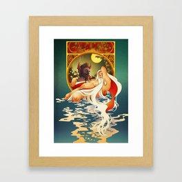 Krampus X Santa 4EVA Framed Art Print