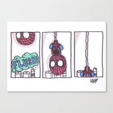Spidey is weird Canvas Print